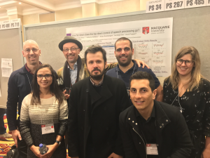 From left to right Andrew Brughera, Prof. David McAlpine, Mathieu Recugnat, Dr. Lindsey Van Yper, Heivet Hernández-Perez, Dr. Jason Mikiel-Hunter, and Dr. Jaime Undurraga