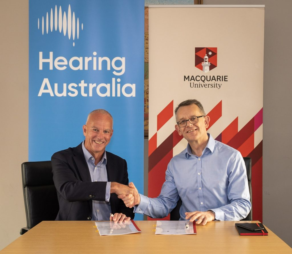 Hearing Aust Mac Uni Agreement Signing