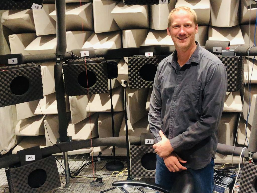Jorg Buchholz in Anechoic Chamber