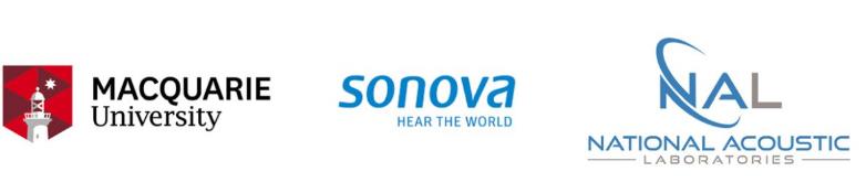 MQ, Sonova and NAL logo